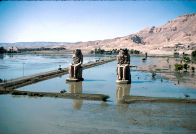 Colossi of Memnon in flood